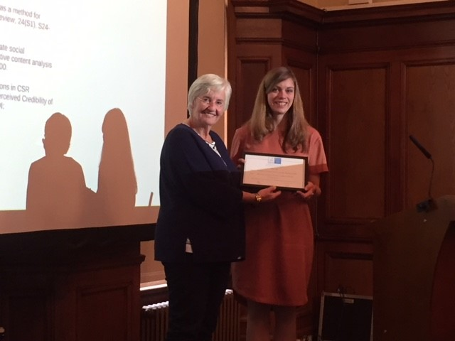 Irina Lock receives Award for Excellent PhD by EUPRERA